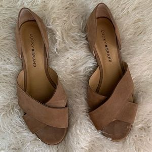 Lucky Brand A Callah Leather Sandals Women Size 8M